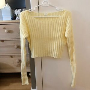 Light Yellow Garage Long Sleeved/Sweater Top (XS)